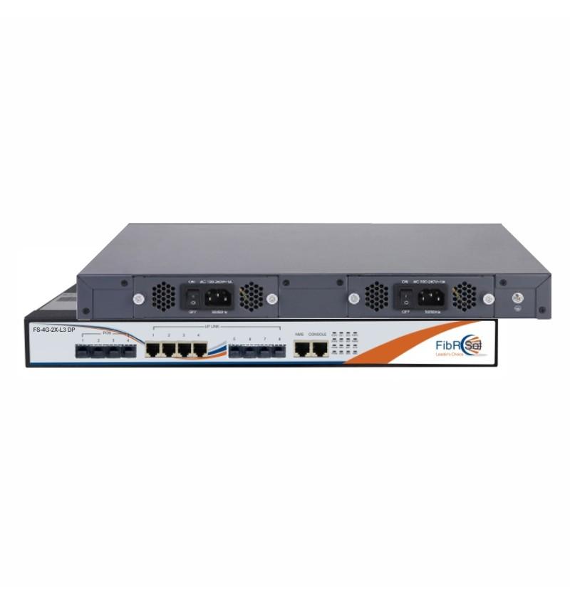 FS-4G-2X-L3 DP 4 Port EPON OLT
